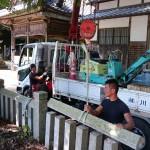夢前町で神社の玉垣の修理をさせていただきました