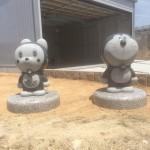 兵庫県加東市でドラえもんとドラミちゃんを設置させて頂きました