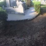 お墓周りのコンクリート打ちをさせていただきました